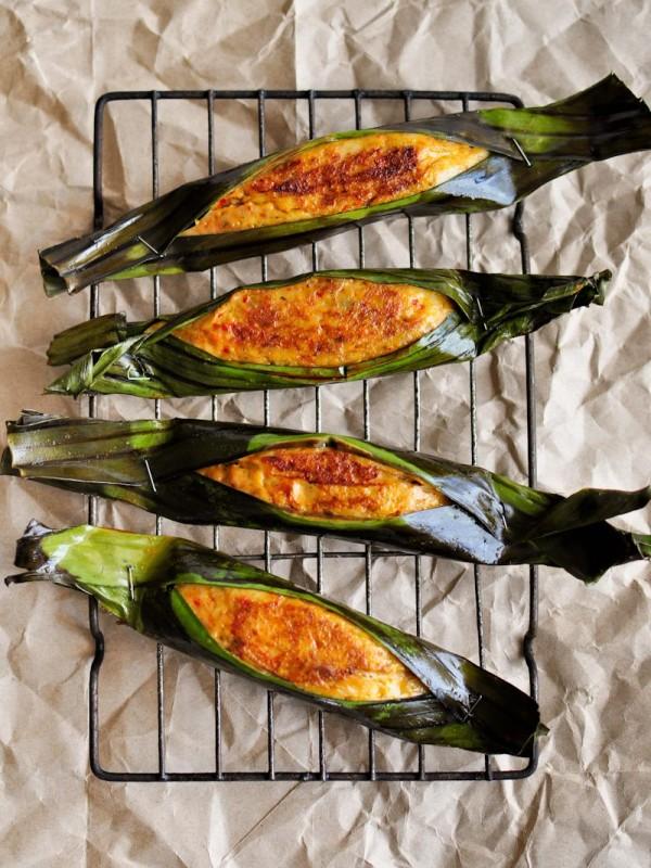 Recipe How To Make Otak Otak Grilled Spicy Fish Cakes Jackie M