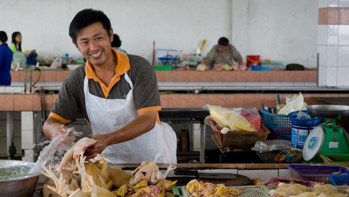 Petanak Wet Market, Kuching, Sarawak