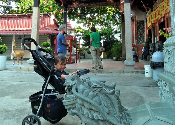 #babyNoah during filming at the Penang Snake Temple.
