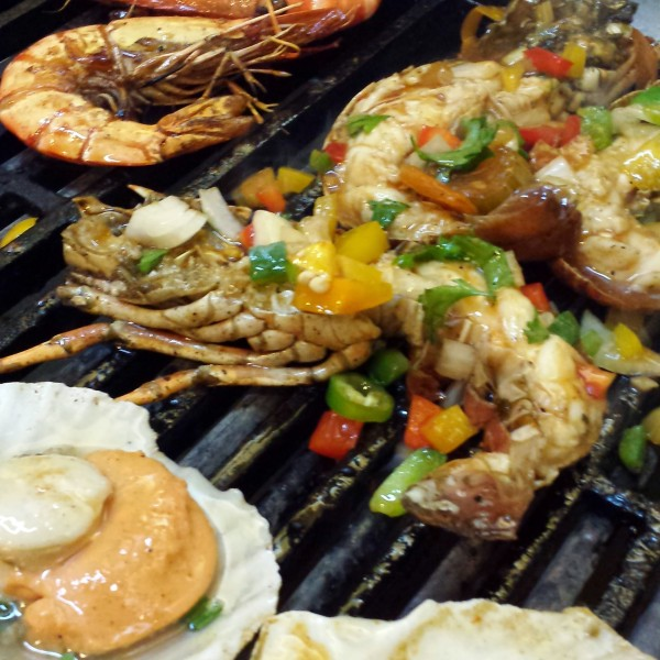 Grilled Lobster and other shellfish at Gobo Chit Chat, Traders Hotel KL.