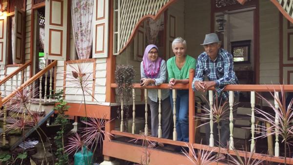 With Mak Asiah and Pak Aziz.