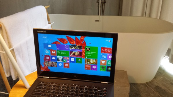 My Yoga 2 Pro at Belum Rainforest Resort, where I stayed during my recent Malaysia trip.