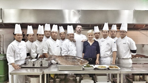 Photo-op with Chef Liou and his team at Four Points by Sheraton, Kuching