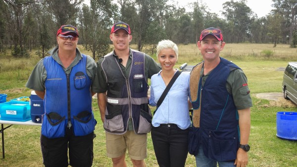 Cast of Fish and Hunt Australia including NRL player Beau Scott and Dave Butfield.