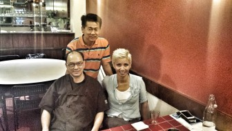 Uncle Jim next to me, with owner of Wok Passion, Mr. Heng, up back.
