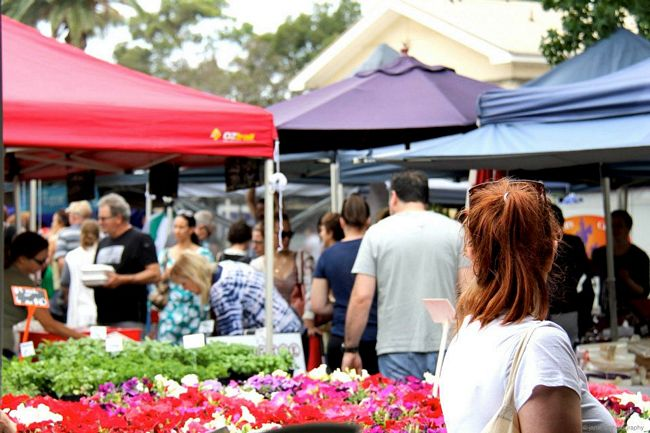 A typical weekend at Orange Grove Market