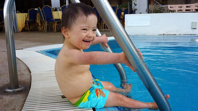 #babyNoah loving every second of his time at the pool
