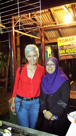 Kak Yah, the owner of Min House Camp