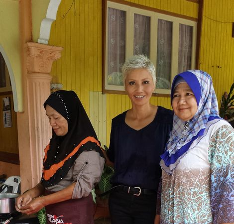 With our hosts at Seterpa Homestay