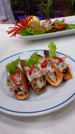 Kerabu Pucuk Nipah (Palm Shoots and Mackerel Salad