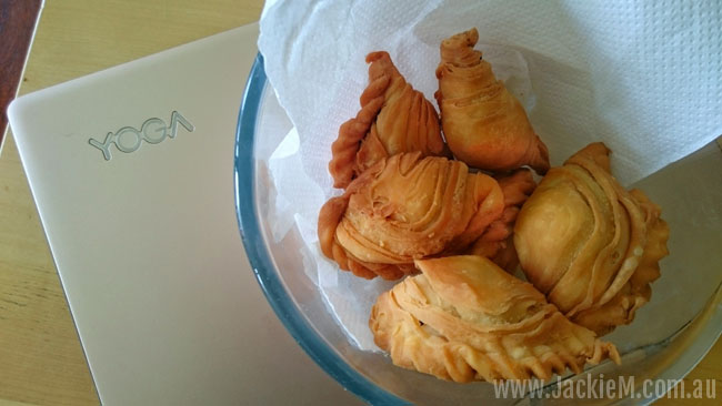 Spiral Curry Puffs using a Thermomix