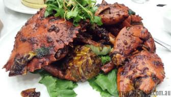 the piece de resistance - black pepper crab