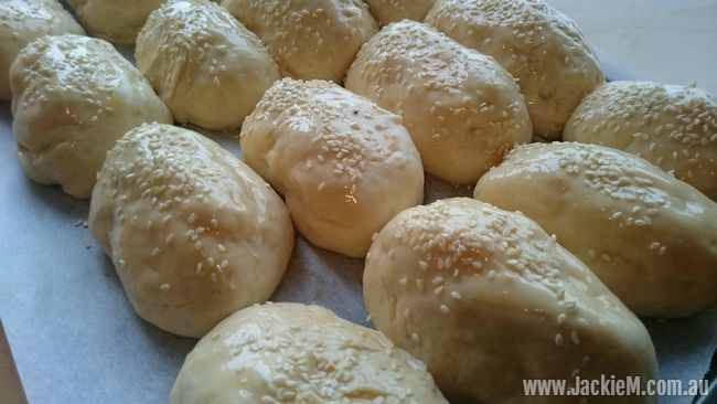 Buns ready to go in the oven