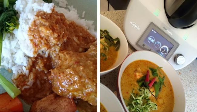 Some of the dishes - Malaysian Chicken Curry and Laksa