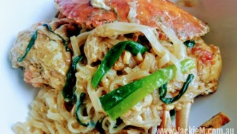 Mud Crab with Ginger & Shallots & Noodles