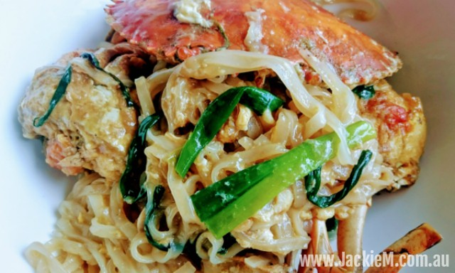 How to Cook  Mud Crab with Ginger & Shallots & Noodles