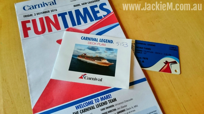 Carnival cruise newsletter
