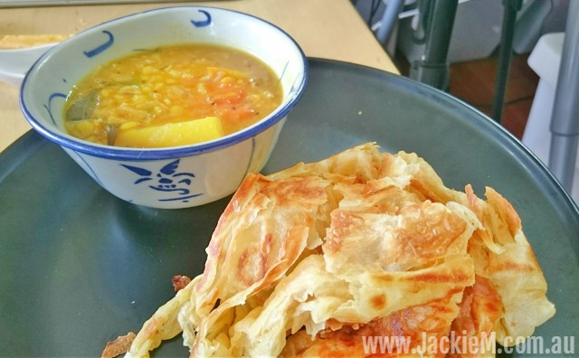Roti canai and toor dahl