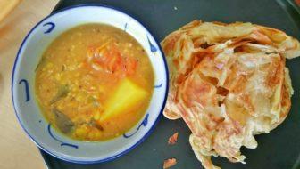 How to Make Roti Canai and Vegetarian Dip