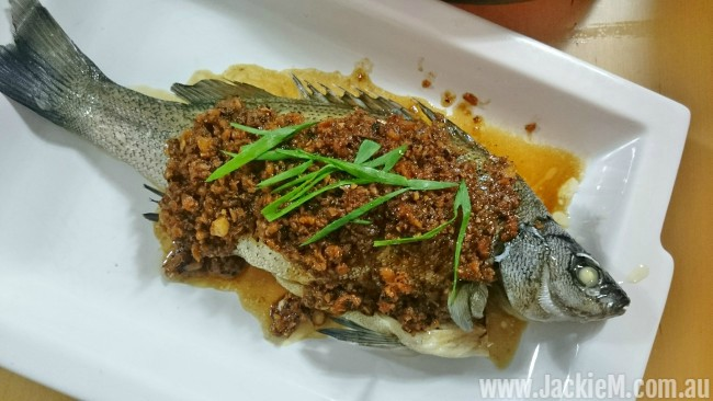 Steamed Silver Perch with Preserved Radish