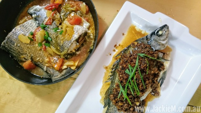 steamed fish with veggies