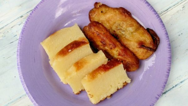 How to Make Cassava Cake and Fried Bananas