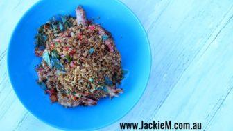 How to Cook Cereal Prawns, Kaya and Pisang Goreng