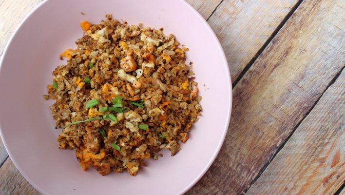 How to Make Cauliflower Fried Rice (Low-Carb)