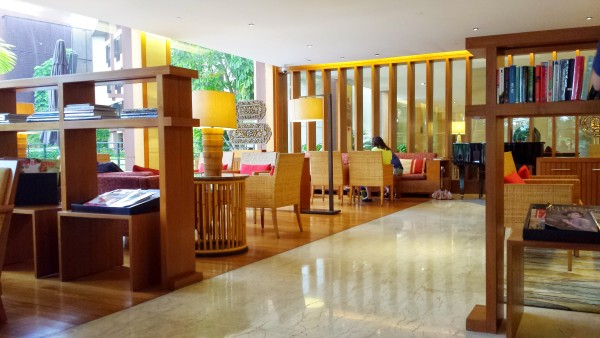 Rasa Sayang Resort's lounge area, where they served refreshments throughout the day.