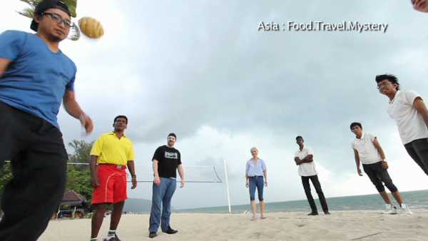 Screenshot of our Sepak Ragi (traditional Malay game) segment from the show.