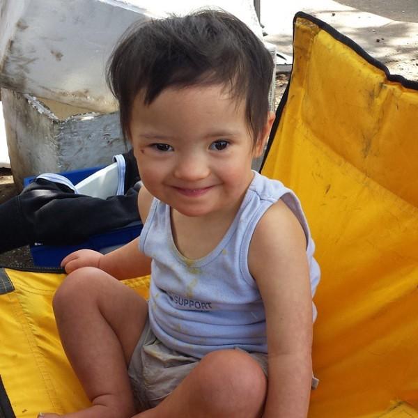 Baby Noah at Orange Grove Farmers' Market