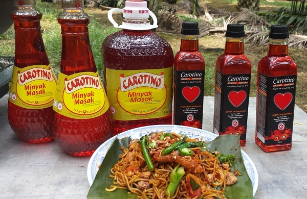 Carotino cooking oil with Mee Goreng