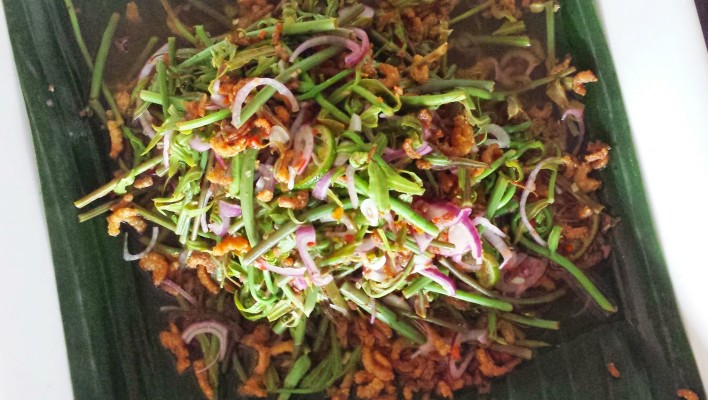 Recipe – Sarawak Midin Salad with Dried Shrimp