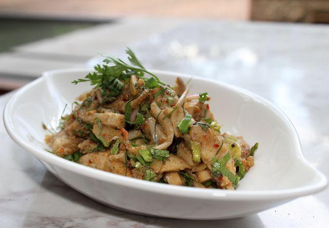 Thai Mushroom Salad aka Laab Hed Fang, Shangri-La Chiang Mai
