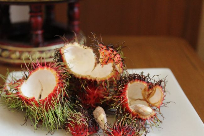 What's left of the rambutans in my room every day about 5 minutes after they refill the fruit basket