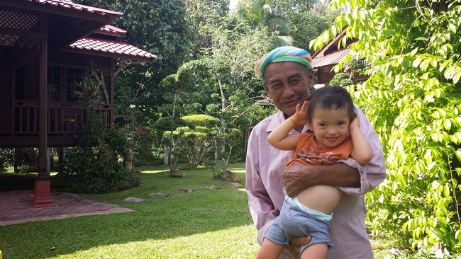 """The village medicine man and elder was very taken with baby Noah and picked up that he was an """"anak istimewa"""" ie. """"special child"""""""
