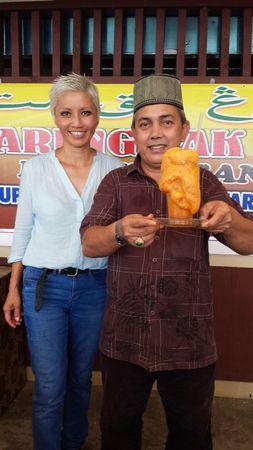 With Pak Mat and his Teh Tarik Madu