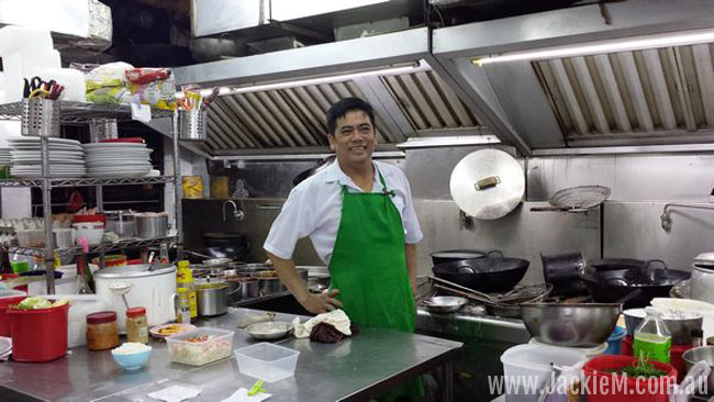the Malaysian chef at Yi Jia South Village Seafood Restaurant