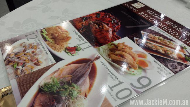 menu at Diamond Kitchen