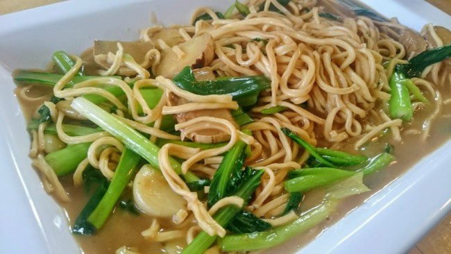 ginger shallot yee meen noodles