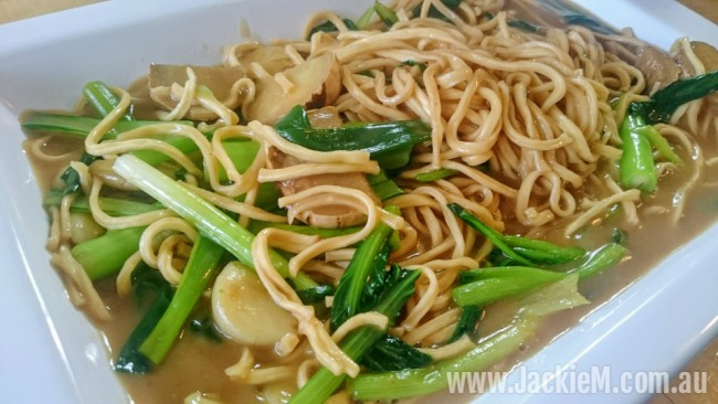 ginger and shallot yee meen noodles