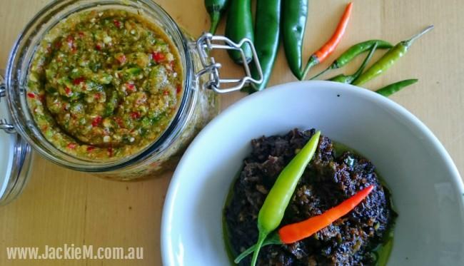 Green Chilli Sauce and Sambal