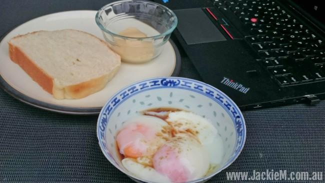 Malaysian soft-boiled eggs