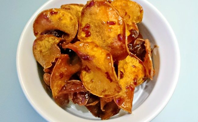 How to Make Sweet Potato Crisps with Sweet Chilli Sauce