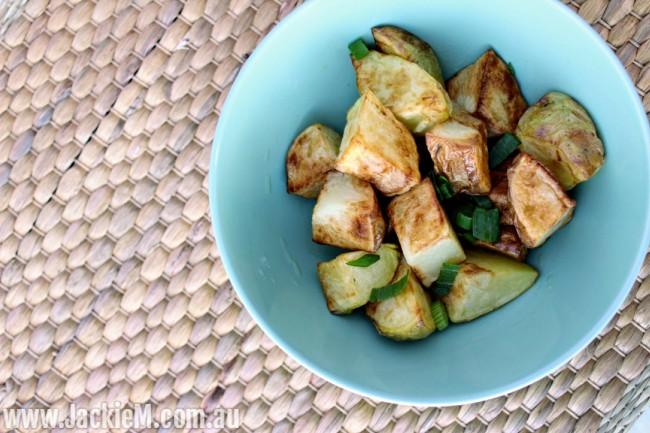 Air-fried potatoes using Optimum HealthyFry