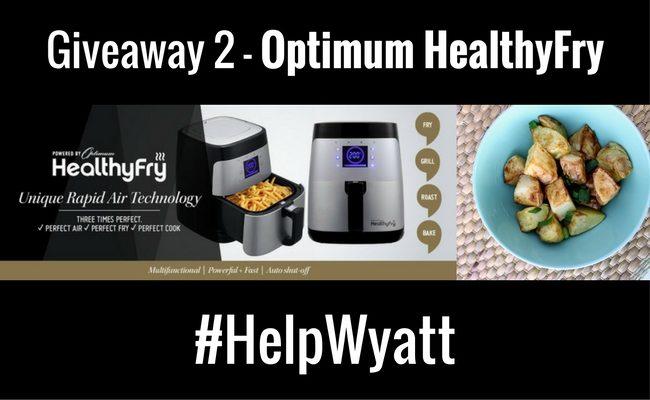 Giveaway 2 – Optimum HealthyFry #HelpWyatt