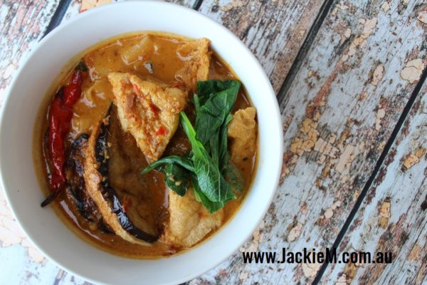 How to Make Curry Laksa with Stuffed Vegies - Jackie M