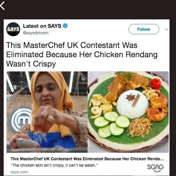 says.com article - crispy rendang