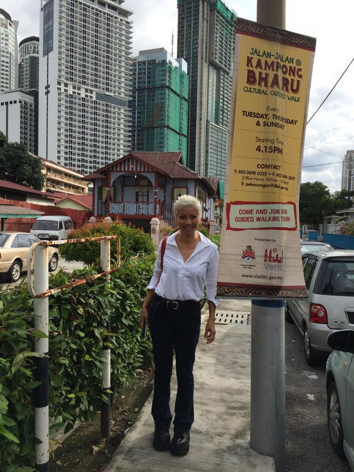 On the hunt for food in Kampung Baru for our Bagasta rooftop session