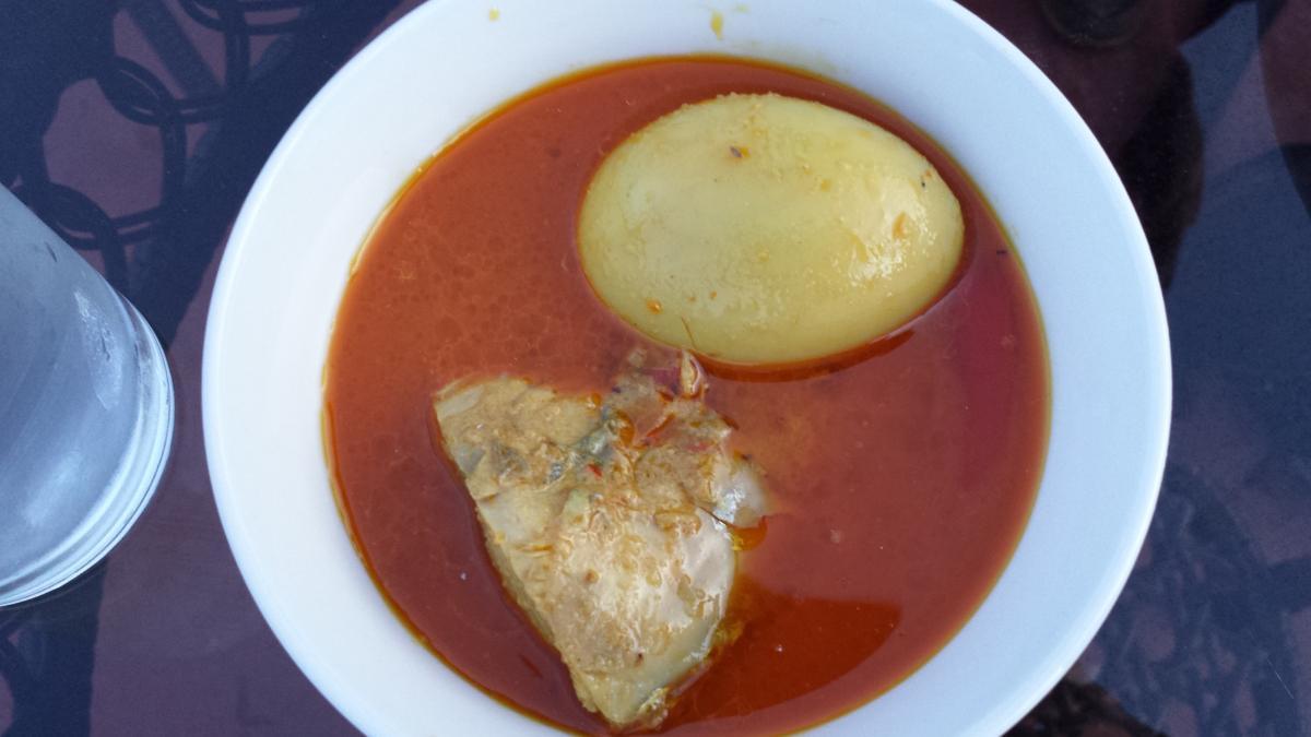 Kari Ikan Tongkol - Kelantanese tuna fish curry. Probably my favourite Kelantanese dish at Kampung Baru.